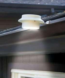 Solar Power Gutter Lights Outdoor Garden Decor Path Lighting