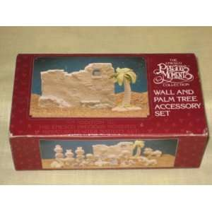 1989 Enesco Precious Moments  Wall And Palm Tree Nativity