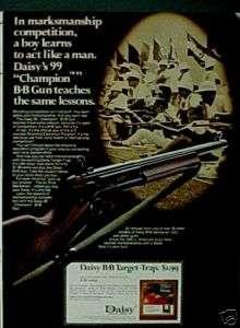 1972 99 BB Pump Daisy Champion Gun Air Rifle Toy Ad