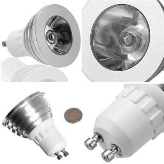 3W E27/ GU10 MR16 16 Color Changing RGB LED Light Bulb Lamp 85~265V