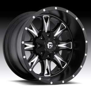 20 FUEL OFFROAD Throttle Wheel SET XD Black 20x10 RIMS FORD CHEVY