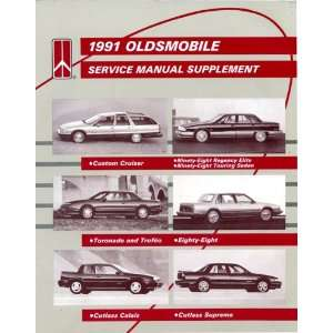 1991 Oldsmobile Service Manual Supplement For Custome Cruiser, Ninety