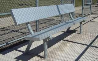 Outdoor Portable Aluminum Plank Sport Park Bench 6 Black Frame