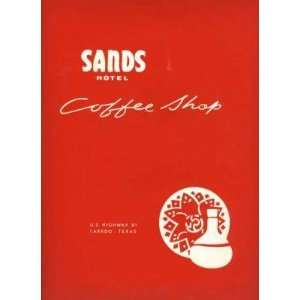 Sands Hotel Coffee Shop Menu Laredo Texas 1960s