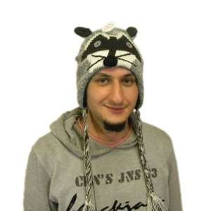 Knit Racoon Animal Hat Brand New High Quality acyrlic