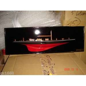 Shamrock Half Hull High Quality Hand Made Wooden Model Ship for Wall