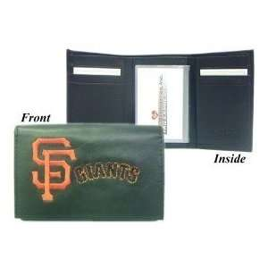 San Francisco Giants MLB Embroidered Leather Tri Fold