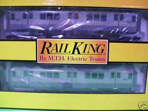 MTH R 12 Two Tone Grey Subway 2 Car Non Powered Set MTA