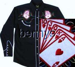 NEW Las Vegas Casino Poker Western Shirt, Bennys, XL