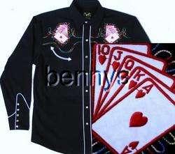 NEW Las Vegas Casino Poker Western Shirt, Bennys, XL