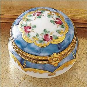 Round Floral Limoges Box
