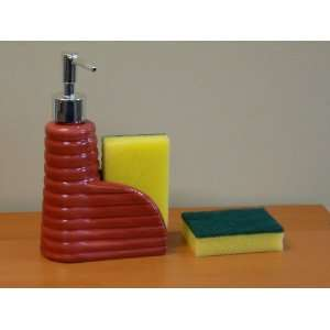 Hand Wash Liquid Soap Dispenser with Scouring Pads