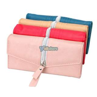 Ladies Women PU Leather Long Wallet Clutch Purse Bag
