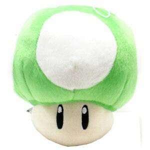 New Super Mario Bros. Green Mushroom Plush New 5
