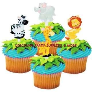 Jungle Safari Zoo Animals Party Cupcake Picks Pics
