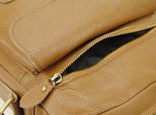 Mens Real Leather Messenger Shoulder Bag Classic Satchel Zip Briefcase