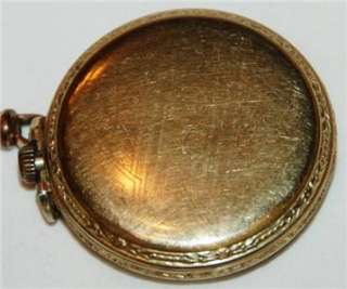 1932 Elgin Pocket Watch Scepter Gold Case & Antique Watch Fob