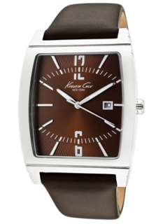 Kenneth Cole Watch KC1794 Mens Brown Dial Dark Brown Leather
