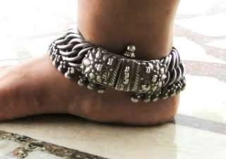 RARE ancient antique collectible ethnic tribal old silver Anklet
