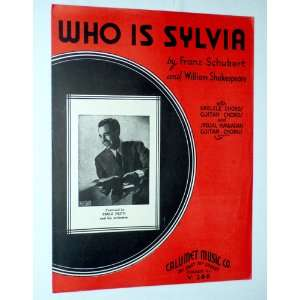 IS SYLVIA (with Ukelele & Guitar Chords and Special Hawaiian Guitar