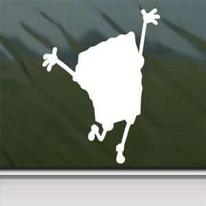 Squarepants Car Vinyl Window Laptop White Decal Arts, Crafts & Sewing