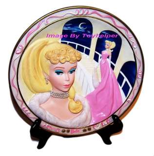 Barbie Doll 3 D Collector Plate ENCHANTED EVENING 3 D