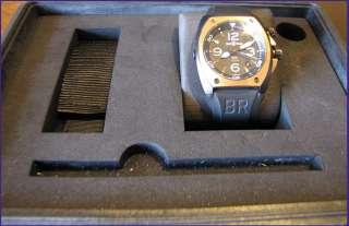 Bell & Ross BR02 92 18K Pink Gold & Carbon Mens Watch   44mm Case