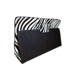 Mobogadget (TM) Black and White Zebra Design Vinyl Padfolio