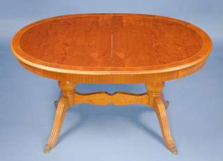 Antique Style Oval Extending Dining Table Regency Yew