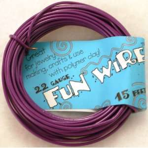 Fun Wire 22 Gauge Coil   Purple Cow Toys & Games