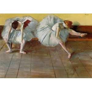 Oil Painting Two Ballet Dancers Edgar Degas Hand Painted Art