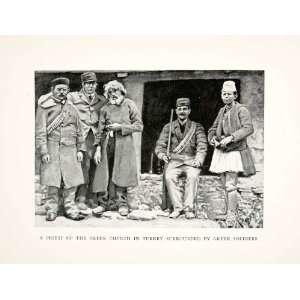 Print Greek Priest Turkey Soldier Costume Uniform Greco Turkish War