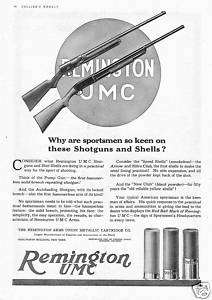 1917 VINTAGE AD   REMINGTON UMC 4 7