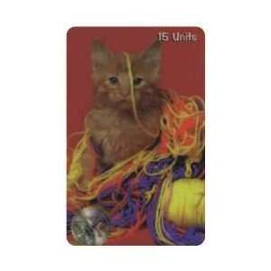 Collectible Phone Card 15u Baby Cat (Kitten) With Lots of