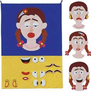 Miss Face Interactive Fabric Emotions Wall Chart Toys & Games