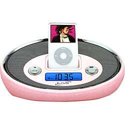 Pink iPod Digital Alarm Clock Radio with Remote (Refurbished