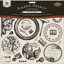Screen Prints Grand Scale Clear Stamps 12x12 Sheet