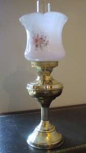 ANTIQUE VICTORIAN STYLE DUPLEX TABLE OIL LAMP WITH ORIGINAL