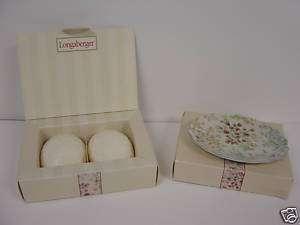 Longaberger Vintage Blossoms Mothers Day Soap Dish Set