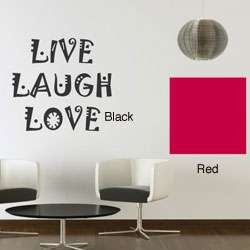 Vinyl Live, Laugh, Love Wall Decals