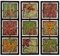 Verona Flowers and Vines Metal Wall Art