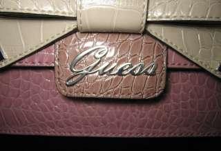 GUESS Lulin Logo Bag Purse Satchel Hobo White Pink New