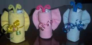 Butterfly Diaper Washcloths Baby Shower Favor, Diaper Cake