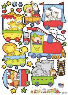 Animals/Transportation Kids Wall Art Sticker Decals