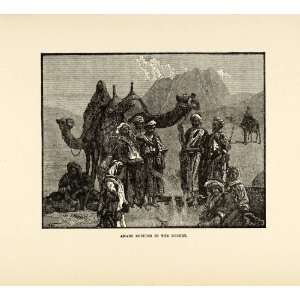 1904 Print Camel Arab Desert Saddle Ethnic Costume Middle East