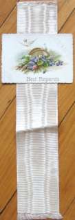 Handmade Bookmark: Silk Ribbon w/Victorian Calling Card