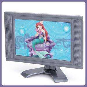 PLASTIC Toy DOLL FURNITURE for BARBIE dolls detachable LCD TV Grey