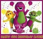 BARNEY AND FRIENDS FROSTING SHEET EDIBLE CAKE TOPPER DECORATION IMAGE
