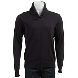 Michael Kors Mens Navy Shawl Collar Sweater