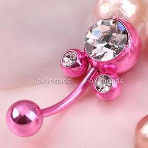 PINK *Mickey Mouse* Belly Button Ring Navel Jewels 1PC